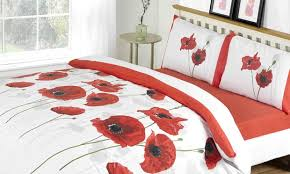 Poppy Bedding Four Piece Nature Bedding Sets Groupon Goods