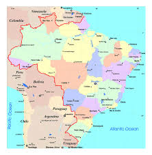 Brazil On South America Map by Large Political And Administrative Map Of Brazil With Roads And