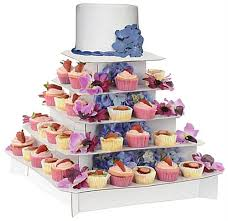 5 tier cupcake stand square cupcake stand classic white 5 tier cardboard display
