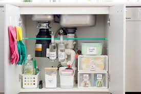 the kitchen sink cabinet organization sink storage organizers that are insanely