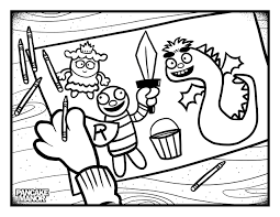 colouring pages pancake manor kids songs