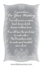 create a gift card gift certificates dreamlines wedding dress sketch