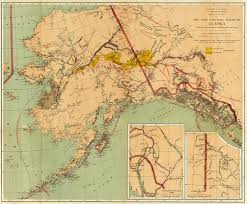 Maps Of Alaska by 1898 Map Of The Alaska And Yukon Gold Fields In The News