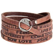leather wrap bracelet men images New fashion men jewelry letter real leather bracelet men wrap jpg
