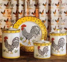 italian kitchen canisters rooster canisters u0026 plate made in italy i would like to have the