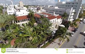 aerial video versace mansion ocean drive stock video video 40739995