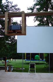 Backyard Outdoor Theater by Outdoor Theater Screen And Projector