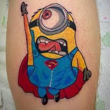 batman minion tattoo 29 best crazy about minion tattoos images on pinterest minion