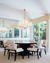detroit rustic round dining room contemporary with dark wood