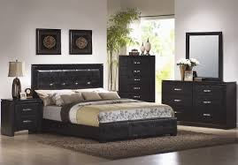 unique design modern bedroom dresser furniture with black leather