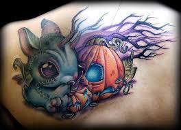 halloween evil pumpkin tattoos tattoo designs