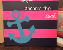 Hand Painted Love Anchors The - love anchors the soul inspirational tumbler with travel lid