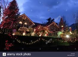 dyker heights brooklyn christmas lights christmas lights in dyker heights brooklyn stock photo royalty