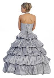 special limited stock poofy silver cinderella dress