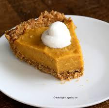 no bake vegan pumpkin pie with gluten free gingerbread crust