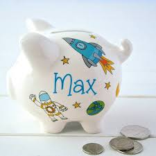 personalised piggy bank by sparkle ceramics notonthehighstreet
