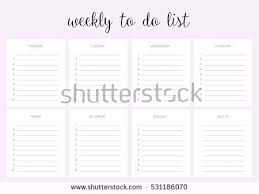weekly do list vector template blank stock vector 531186070