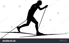 athlet ski racer classic style black stock vector 550489105