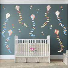 hot air balloon wall stickers enchanted interiors neutral kites stars nursery wall stickers