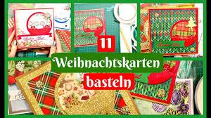 11 weihnachtskarten basteln mit einer bastelidee bastelanleitung