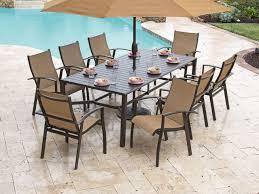 Aluminum Dining Room Chairs Ventura Sling 9 Pc Aluminum Dining Set Chair King