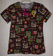 scrubstar patterned scrub tops ebay