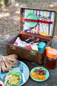 vintage picnic basket vintage suitcase picnic basket picnic color log cabin cooking