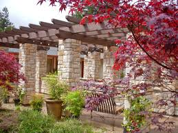 Spanish House Style Awesome Spanish Backyard Garden Idea With Pergola And Stone