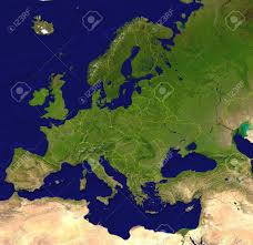 Europe Map With Capitals by European Map A Satellite View With Borderlines Capitals And