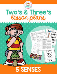 two u0026 three u0027s 5 senses lesson plans activities and