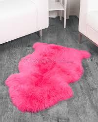 crafty inspiration pink fur rug stunning design pink sheepskin