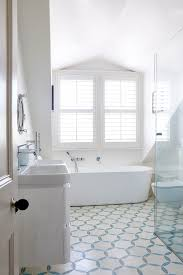 modern vinyl flooring bathroom transitional with plantation