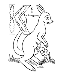 abc alphabet coloring sheets abc kangaroo animals coloring