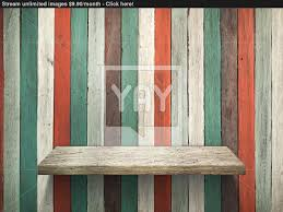 Old Wood Wall Shelf On Old Wood Wall And Floor Image Yayimages Com