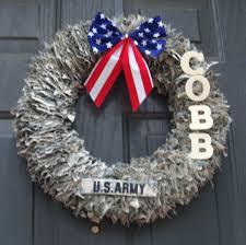 decorative wreaths door decoration home decor military wreath