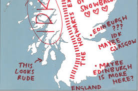 map of scotland and we asked 12 non scots to label a map of scotland and it was terrible