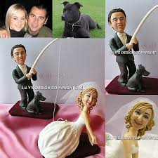 fishing wedding cake toppers humor fishing theme cake toppers with dogs custom fishing theme