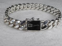 chain link bracelet sterling silver images Design curb link bracelet 0 29 quot 0 39 quot 7 5 10mm handmade in jpeg