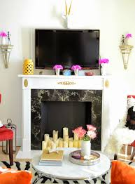 faux fireplace makeover