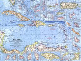 Trinidad Map 1962 West Indies Map Historical Maps