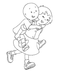 caillou coloring images caillou coloring pages free u20ac kids