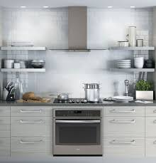 appliances stainless steel glass canopy range hood white subway