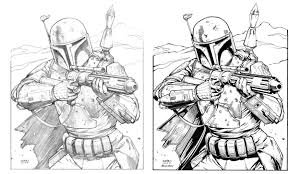 jango fett and boba fett pictures to color navajo cradle board