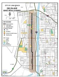 Long Beach Map 2016 Infrastructure In Review Bike Long Beach