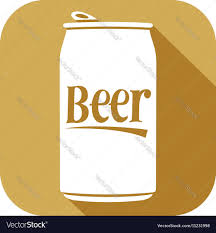 beer can cartoon beer can icon royalty free vector image vectorstock