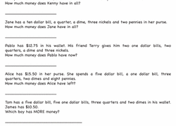 money worksheets u0026 free printables education com