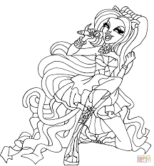 monster high coloring books catty noir coloring page free printable coloring pages