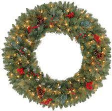 lighted christmas wreath outdoor christmas wreath ebay