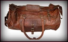 mens travel bag images Fashion men 39 s large genuine leather travel messenger gym travel jpg