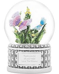 20 jeweled butterfly musical snow globe